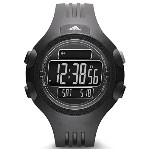Adidas ADP6080 QUESTRA Uhr Kunststoff 50m Digital Datum Licht Alarm Timer schwarz