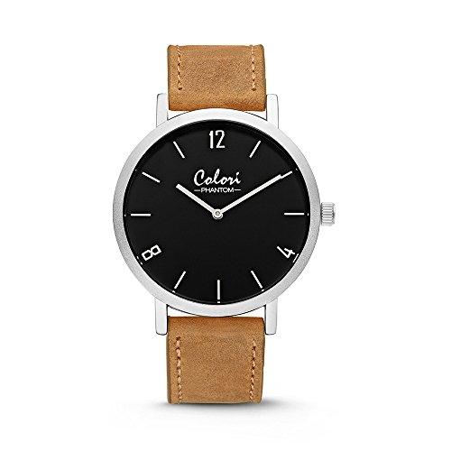 Colori Watch Armbanduhr Unisex Phantom 42mm sand silber