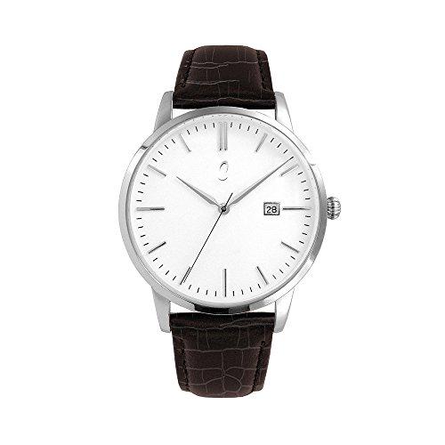 Colori Watch Connaisseur 34mm dunkelbraun silber weiss