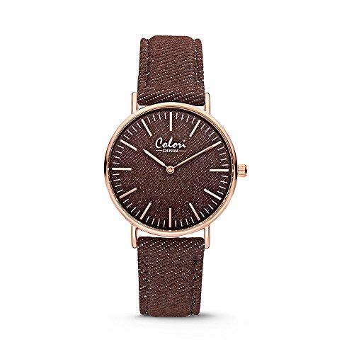 Colori Watch Damenuhr Denim 36mm braun