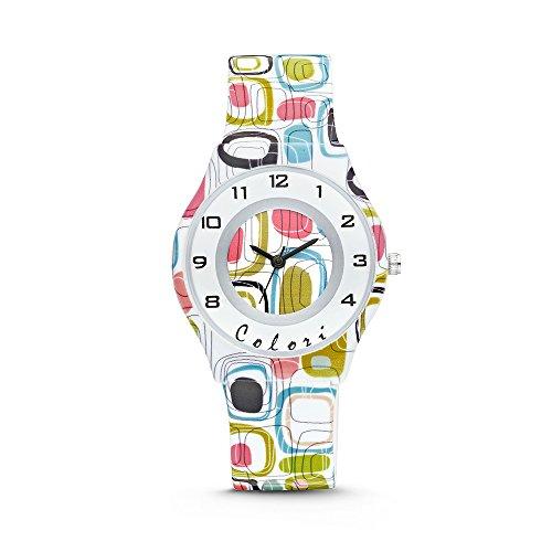 Colori Watch Kinderuhr Fun Time 34mm weiss II