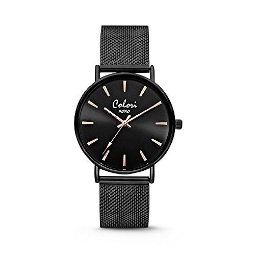 Colori Watch Unisex Armbanduhr XOXO 36mm schwarz