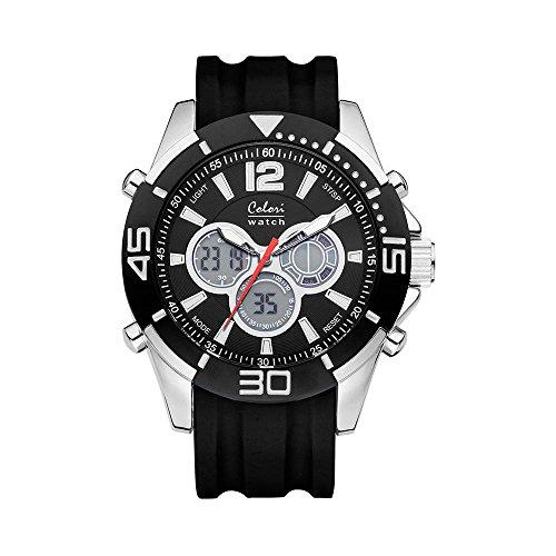 Colori Watch Unisex Chronograph Urban 47mm schwarz silber