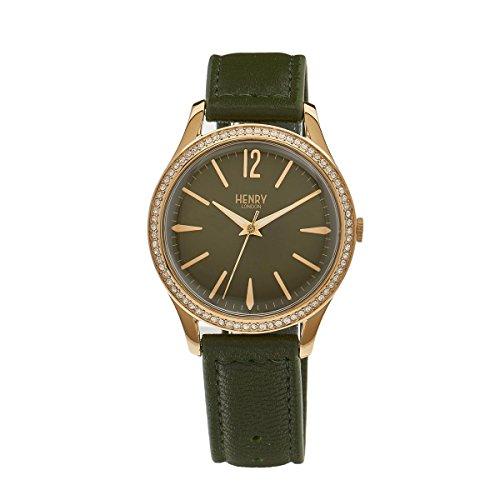 Henry London Unisex Armbanduhr Chiswick Analog Quarz Leder HL39 SS 0104