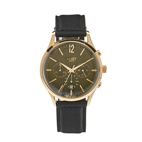 Henry London Unisex Armbanduhr Chiswick Chronograph Quarz Leder HL41 CS 0106