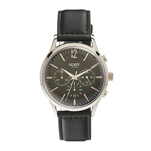 Henry London Unisex Armbanduhr Edgware Chronograph Quarz Leder HL41 CS 0023