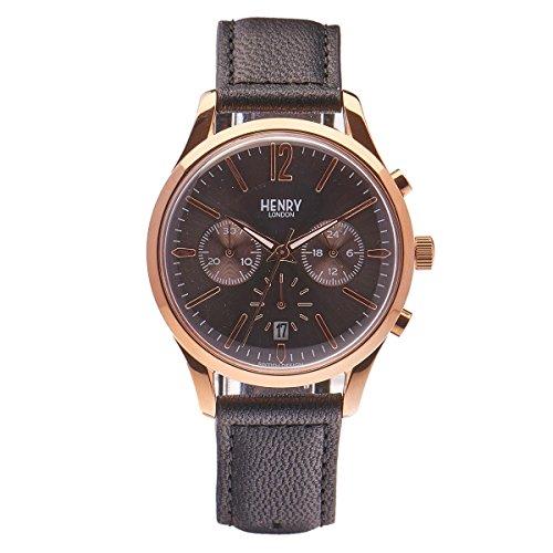 Henry London Unisex Armbanduhr Finchley Chronograph Quarz Leder HL39 CS 0122