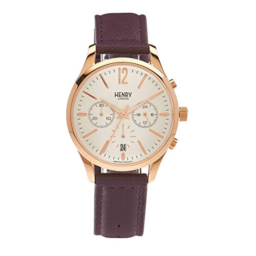 Henry London Unisex Armbanduhr Hampstead Chronograph Quarz Leder HL39 CS 0090