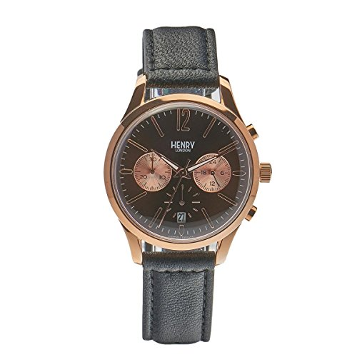 Henry London Unisex Armbanduhr Harrow Chronograph Quarz Leder HL39 CS 0054