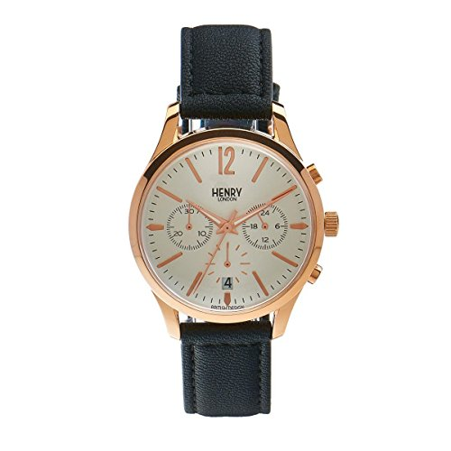 Henry London Unisex Armbanduhr Richmond Chronograph Quarz Leder HL39 CS 0036