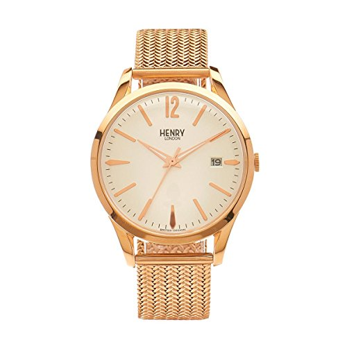 Henry London Unisex Armbanduhr Richmond Analog Quarz Edelstahl HL39 M 0026