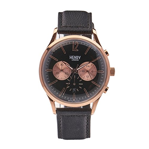 Henry London Unisex Armbanduhr Richmond Chronograph Quarz Leder HL41 CS 0042