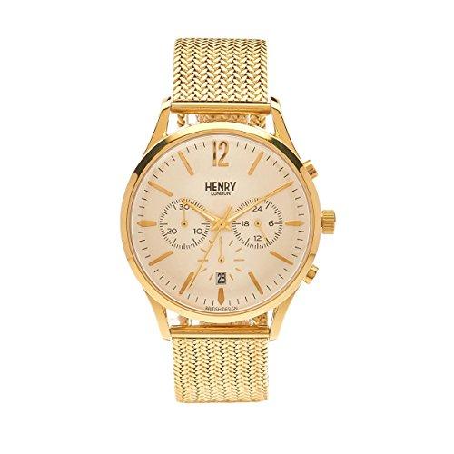 Henry London Unisex Armbanduhr Westminster Chronograph Quarz Edelstahl HL41 CM 0020