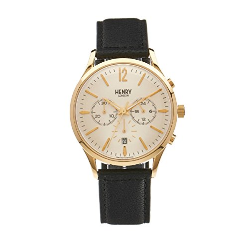 Henry London Unisex Armbanduhr Westminster Chronograph Quarz Leder HL41 CS 0018