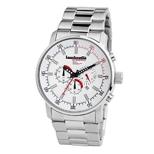 """Lambretta """"Imola Bracelet White"""" Chronograph Edelstahl Weiss Herren Uhr"""