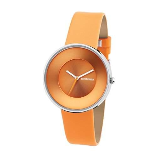 """Lambretta """"Cielo Orange"""" Edelstahl Leder Orange Frau Uhr"""