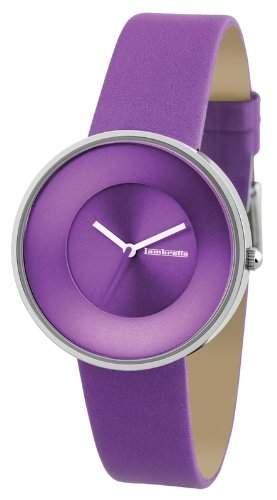Lambretta Cielo Purple Edelstahl Leder Lila Frau Uhr
