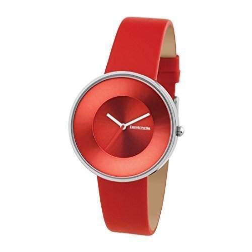 """Lambretta """"Cielo Red"""" Edelstahl Leder Rot Frau Uhr"""