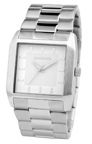 Lambretta Enzo Herren Uhr Stahlband weisses Zifferblatt Bracelet White Mens watch 2140 whi