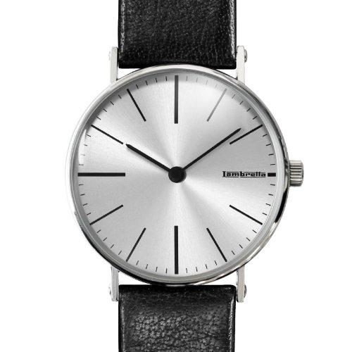 Lambretta Cesare Lederband Armbanduhr und Manschettenknoepfe Set 2181 sil