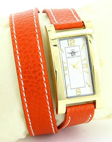 Leder orange double bracelet Michael John 2225