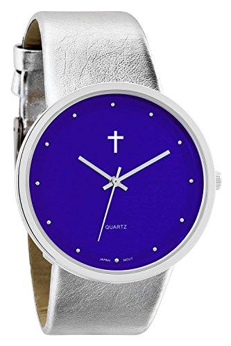 Belief Sporty Blue Face blau Silicon Band mit Kreuz Logo bf9659bl