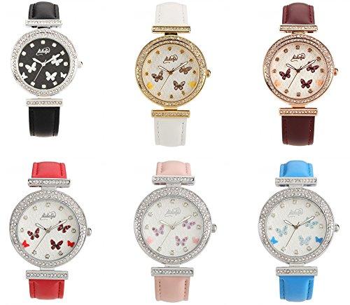 Armbanduhr DIDOFa DF 3012 PAPILLON COLLECTION Armbanduhr 3D SCHMETTERLINGE GOLD Uhren LUXURY SIND VERSCHIEDENE FARBEN