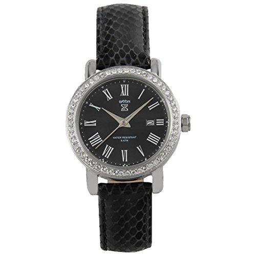 Gryon Damenuhr schwarz silber G 321 11 11
