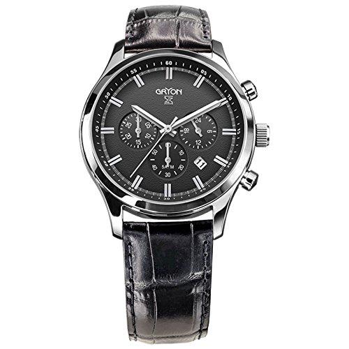 Gryon Herren Chronograph schwarz silber G 132 11 31