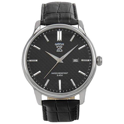 Gryon Herrenuhr schwarz silber G 061 11 31