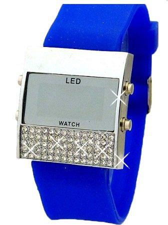 Damen Glamour LED Uhr Blau K110