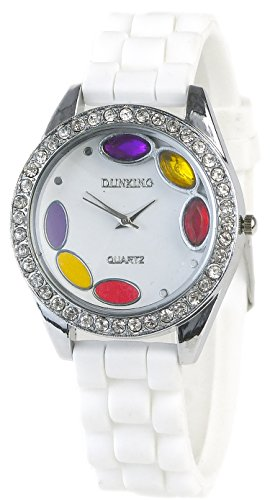 Damenarmbanduhr Stone Colors in Weiss