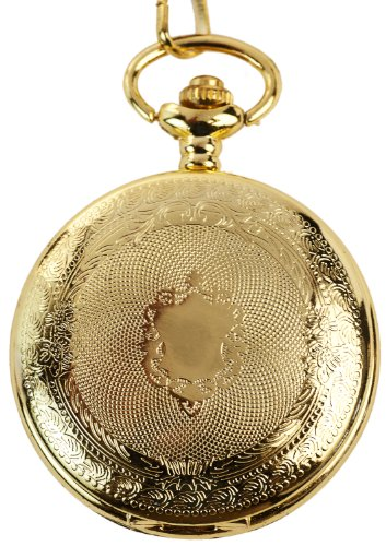 Elegante Taschenuhr Wappen Relief vergoldet