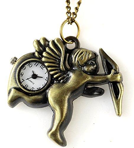 Uhr Engel Umhaengeuhr Halskette Schutzengel