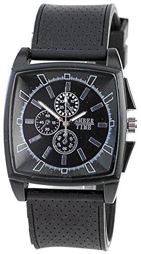Moderne Armbanduhr Schwarz Laufuhr