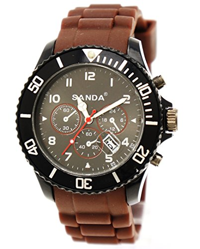 Sportliche Armbanduhr Sanda Braun