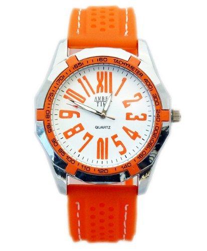 Sportliche Herrenarmbanduhr Orange