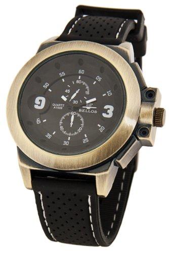 Exklusive Militaerstil Uhr Schwarz Bronze