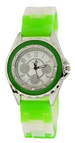 FRESH Damen Armband Uhr Neon Gruen