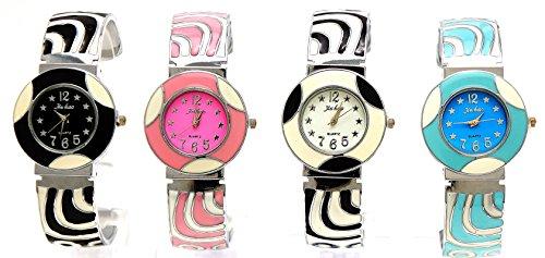 Gefleckte Moderne Uhr im 2er Set