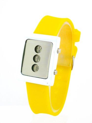 BU62 NERD Ninja Digital Uhr fuer Herren Damen Gelb