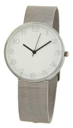Nordische Armbanduhr mit feinem Mesh Armband