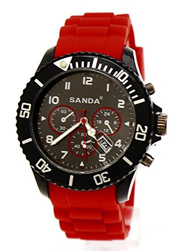 Sanda Sport Armbanduhr Rotbraun Chrono Design