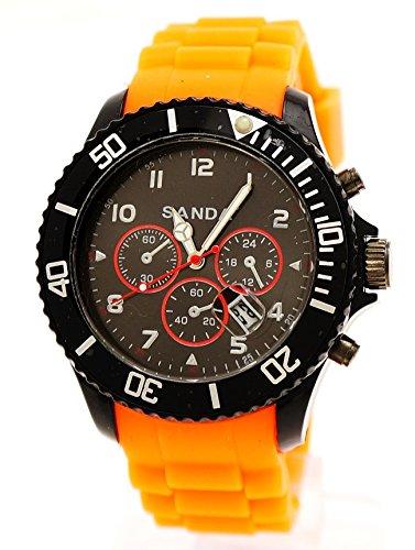 Sanda Sport Armbanduhr in Orange