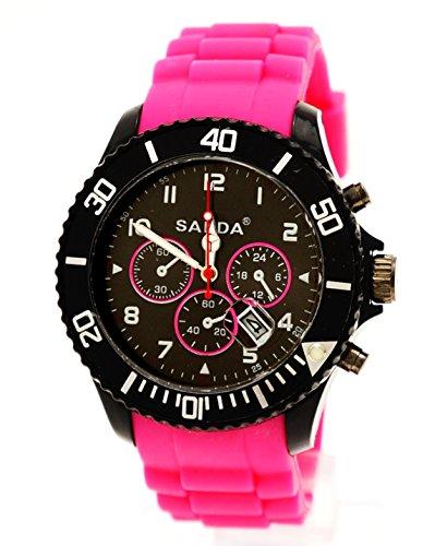 Sanda Sportlich Armbanduhr Pink Chrono Design