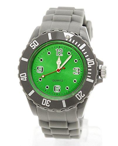Schlichte Sportliche Moderne Armbanduhr Gruen Grau
