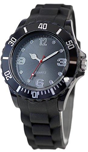 Schlichte Sportliche Moderne Armbanduhr in Schwarz