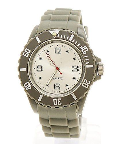 Schlichte Sportliche Moderne Armbanduhr Grau Silber