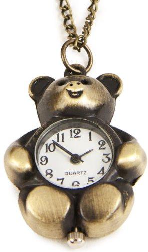 Z5 Suesse Teddy Baer Uhr Umhaengeuhr Handarbeit