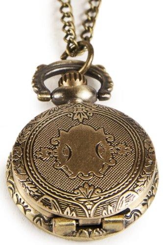 Umhaengeuhr Halskette mit Sprungdeckel Nostalgisch Wappen